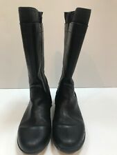 Geox Girls UK Size 2.5 Black Leather Knee-High Boots