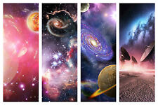 STUNNING OUTER SPACE & PLANETS CANVAS COLLAGE #1 QUALITY FRAMED BOX CANVAS A1