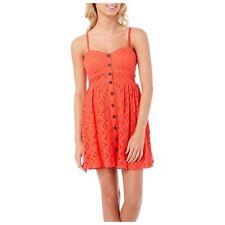 TRIXXI JOUNIOR  Crochet Slip Dress L, Coral SIZE LARGE