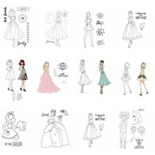 Cute Girls Dress Clear Rubber Stamps Seal Embossing Stamping Craft Card Album