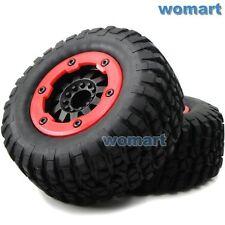 2pcs RC 1/10 Short Course Buggy Off Road Tires & Hex 12mm Beadlock Wheels Rims