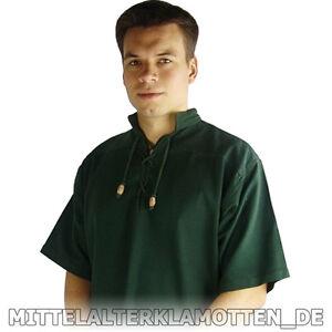 Freizeit- Mittelalterhemd 6 Farben S-XXXL kurzärmelig Mittelalter Hemd kurzarm