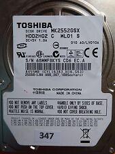 250GB Toshiba MK2552GSX HDD2H02 C WL01 S | LV010A  #347