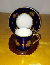 Emperor Napoleon Cobalt Miniature Demitasse Cup & Saucer Set With Gold Bees