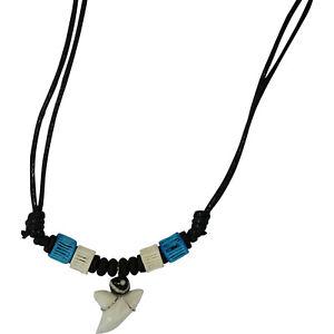 Shark Tooth Necklace Pendant Chain Mens Boys Girls Womens Ladies Beach Jewellery