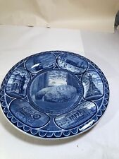 Staffordshire Flow Blue Plymouth Rock Plate