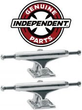 INDEPENDENT Skateboard Trucks 139mm Silver Raw STAGE 11  8.0 in PAIR (2 trucks)