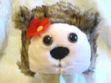 Chicas Fun Fur Erizo Animal Bosque Sombrero Cálido Acogedor lindo vestido edad 2-6 años