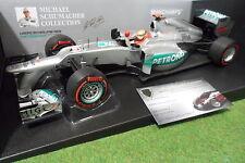 MERCEDES AMG W03 2012 SCHUMACHER F1 team 1/18 MINICHAMPS 110120107 formule 1