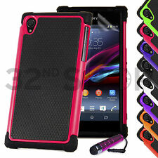 SHOCK PROOF CASE COVER FOR Sony Xperia Z1 / Z Ultra / Z / Z2 SCREEN PROTECTOR