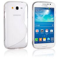 Cover Silicone S-Line Trasparente Samsung Galaxy i9060i Grand Neo Plus + Vetro