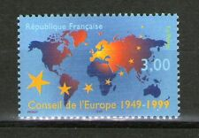 TIMBRE 3233 NEUF XX LUXE - 50 ANS DU CONSEIL DE L'EUROPE - CARTE + ETOILES