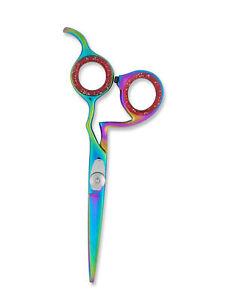 "Hair Cutting Hairdressing Barber Salon Hair Scissors Shears Titanium Coated 5.5"""