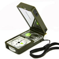 10 in1 Army Survival Multi Tool Compass Flint Thermometer Hygrometer Hunt Camp