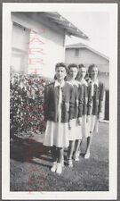 Unusual Vintage Photo Pretty Teen Girls Standing in Line 727641