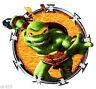 """4"""" Tmnt teenage mutant ninja turtles michaelangelo fabric applique iron on"""