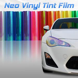 """12""""x12"""" Chameleon Neo Amber Headlight Fog Light Taillight Vinyl Tint Film (o)"""