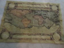 "France Tapestry""Tapisseries Du Lion"" Map Of The World 95X135 cm -Very Rare"