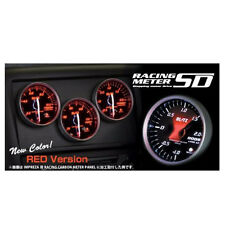 NEW BLITZ RACING METER SD 52MM BOOST METER GAUGE RED 19591