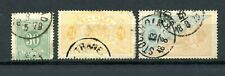 3 Antique Sweden Official & Postage Due Used Stamps Perf.14