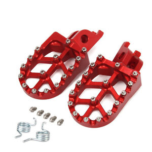 Billet MX Wide Foot Pegs Pedals Rests For CR125 CR250 CRF250R X CRF450R CRF450X