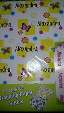 Personalized birthday gift wrap wrapping spring butterflies Nip Alexandra