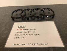 Genuine Audi Front Grille Badge Rings Gloss Black for A1/A3/A4/A5/A6/A7/RS3,4,5