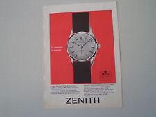advertising Pubblicità 1962 OROLOGIO ZENITH CAPTAIN