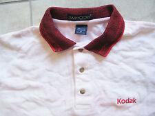 "Vintage KODAK Camera Film Work Uniform Polo Knit Shirt ""Tie Dye"" MEDIUM M USED"