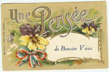 2 cartes Fantaisies de Benoite Vaux  années 30