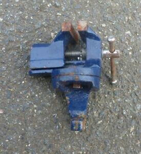 """Engineers Jewellers Bench Swivel Vice  2"""" Wide Jaws Table Clamp"""
