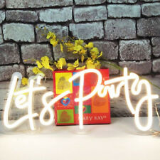 Divatla Led Neon Sign Lets Party Sign Size 23x10in Support Custom