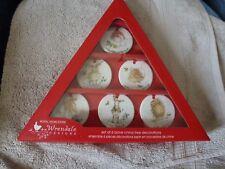 Royal Worcester Wrendale fine bone china set of 6 Christmas Decorations