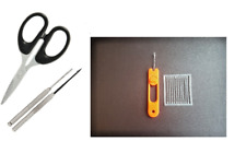 4PC BAITING TOOL SET DRILL,SPIKE, LATCH NEEDLE, SCISSORS,100 FREE BAIT STOPS