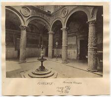 ALBUMEN PRINT - FLORENCE, ITALY, ART/RELIEF SCULPTURE, PALAZZO VECCHIO