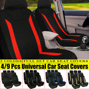 4PCS/9PCS Universal Auto Seat Covers Protector For Car Truck SUV Van