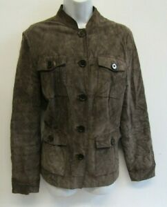 DOROTHY PERKINS REAL SUEDE JACKET SIZE 16 BROWN