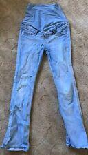 H&M Mama Maternity Over The Bump Pale Blue Jeans  Size EU 38 / UK 10