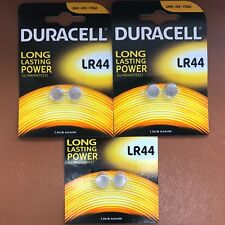 6 x Duracell LR44 1.5V Batteries Alkaline Long Lasting Power LR 44 A76 AG13