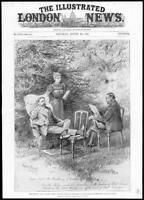 1899 Antique Print  -  FRANCE Rennes Dreyfus Case Maitre Labour Wife  (275)