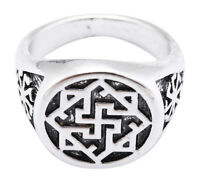 Vintage Gothic Slavic Valkyrie Symbol Ring Pagan Jewelry for Men [8]
