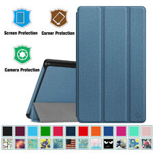 For Amazon Kindle Fire 7 2019 9th Gen Luxury Leather Magnetic Stand Smart Case