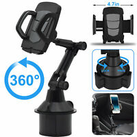 Universal 360° Car Cup Holder Adjustable Phone Mount Stand Cradle For Cell Phone