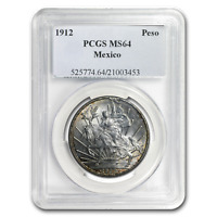 1912 Mexico Silver Peso Caballito MS-64 PCGS - SKU#186855