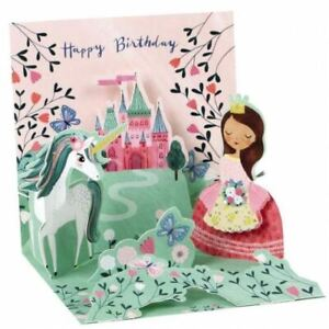 Pop-Up Greeting Card Trearures by Up With Paper - Princess & Unicorn
