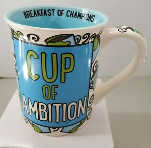 """Our Name Is Mud """"Cup Of Ambition"""" Stoneware Coffee Mug, 16 Oz. Cups Mugs"""