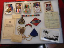 Original Canadian - WWII Medal Grouping - B-103051 Sgmn. R. Smith RCCS. Badge