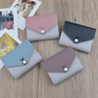 Cute Leather Short Wallet Coin Purse Credit Card Holder Organizer for Women Z