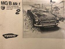 "KYOSHO ""Nostalgic serie"" 1/10 Carrosserie MGB – Car Bodyshell - VINTAGE -"
