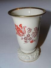 Alte Rosenthal Vase Selb Bavaria nummeriert 6301 106 Blumenmotiv Goldrand 10cm